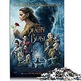 Beauty and The Beast Puzzles clásicos 1000 Piezas Belle and The Beast Rompecabezas Creativo para Adolescentes Adultos Rompecabezas de Juegos desafiantes 75x50CM