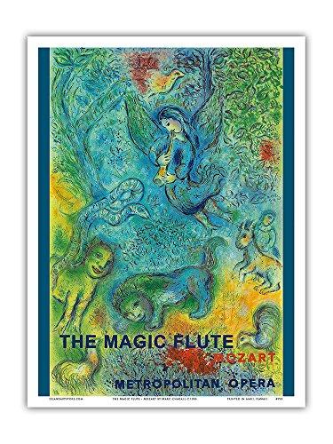 Pacifica Island Art Die Zauberflöte - Mozart - Met Opernhaus - Altes Vintage Retro Werbe Plakat von Marc Chagall c.1966 - Kunstdruck - 23cm x 31cm