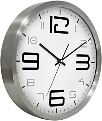 Wall Clock 3030cm European Fashion Stainless Steel Digital Mute Quartz Watches and Clocks,Restaurant Living