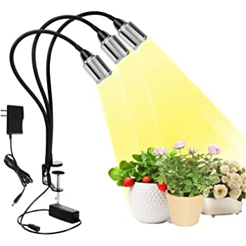 Fauna 100W COB Plant Grow Light Full Spectrum 3/6/12H Timer 5 dimmable Level with C-clamp Shape Design for House Garden Hydroponics Succulent Growing