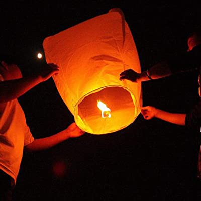 4 X Chinese Flying Sky Lantern Eco Friendly Party Celebrate Fun