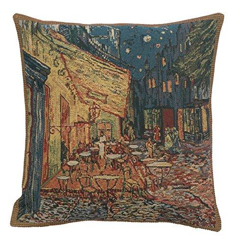 Charlotte muebles para el hogar 6970–9678terraza belga–Funda de cojín (color azul & # 44; H 16x W 16