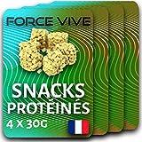 Snack Protéinés Goût Chocolat Blanc (Veggie) Pack de 4 (4x24g) | Dessert Proteiné Excellent Plaisir Minceur Régime, Nutrition Musculation, Complément Repas, Perte de Poids, Low Carb, Faible Sucre