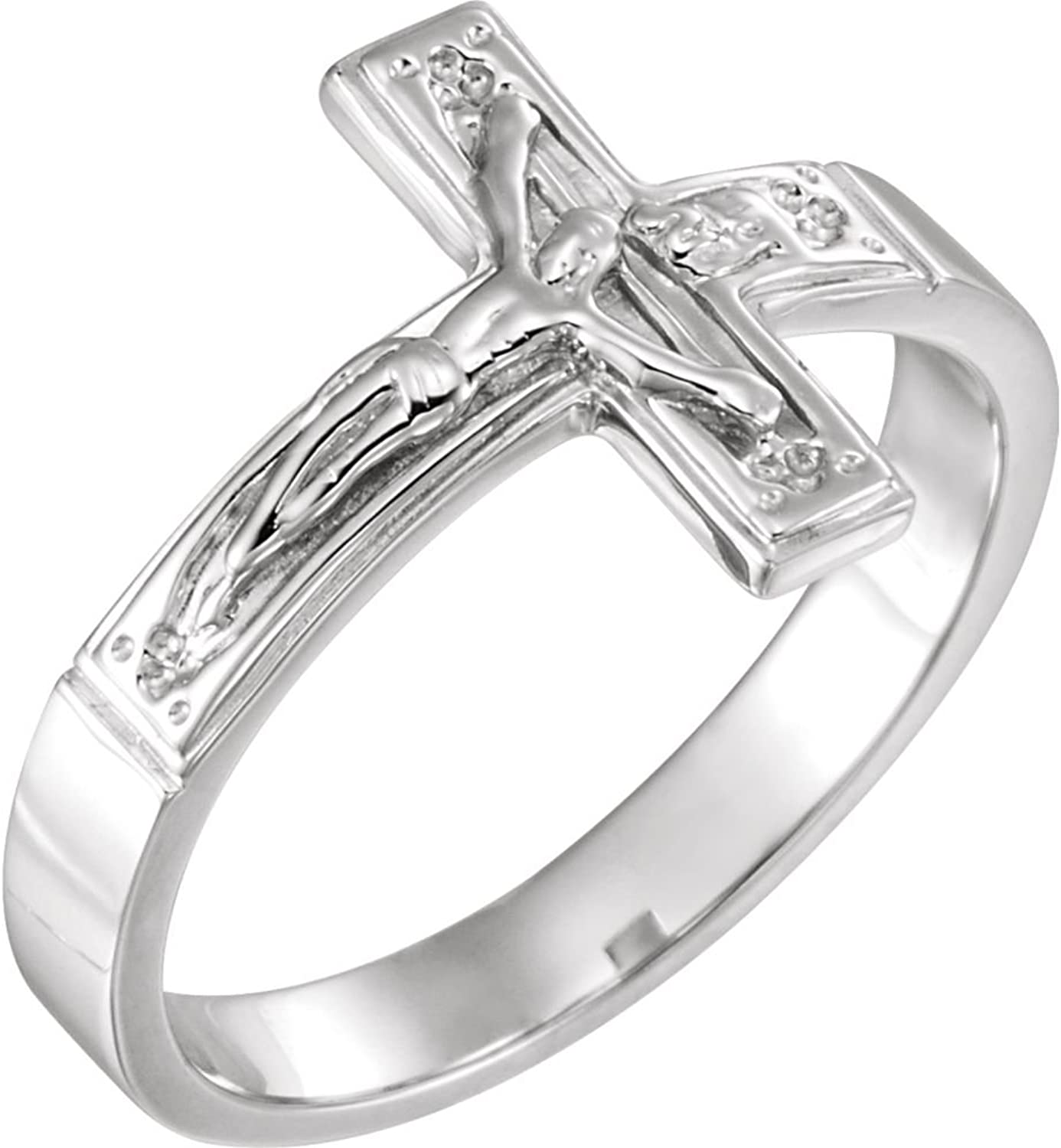 Beautiful Sterling silver 925 sterling Sterlingsilver Crucifix Chastity Ring W Box