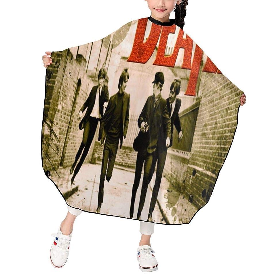 農村モスインディカ最新の人気ヘアカットエプロン 子供用ヘアカットエプロン120×100cm 音楽The Beatles 柔らかく、軽量で、繊細なポリエステル生地、肌にやさしい、ドライ