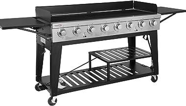 Royal Gourmet GB8000 8-Burner Liquid Propane Event Gas Grill, BBQ, Picnic, or Camping Outdoor, Black