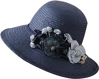 WN - Sombrero - Sombrero de Paja para Mujer Sombrero Plegable de Verano Tejido Sombrero para el Sol Protección UV Sombrero de Playa Sombrero para el Sol (4 Colores) Sombrero para Mujer (Color : #2)