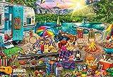 Puzzle 1000Piezas Puzzle para Adultos Rompecabezas De Óptima Calidad Camping Familiar Decoraciones DIY Juego De Ocio Juguete Adecuado Familia Amigos