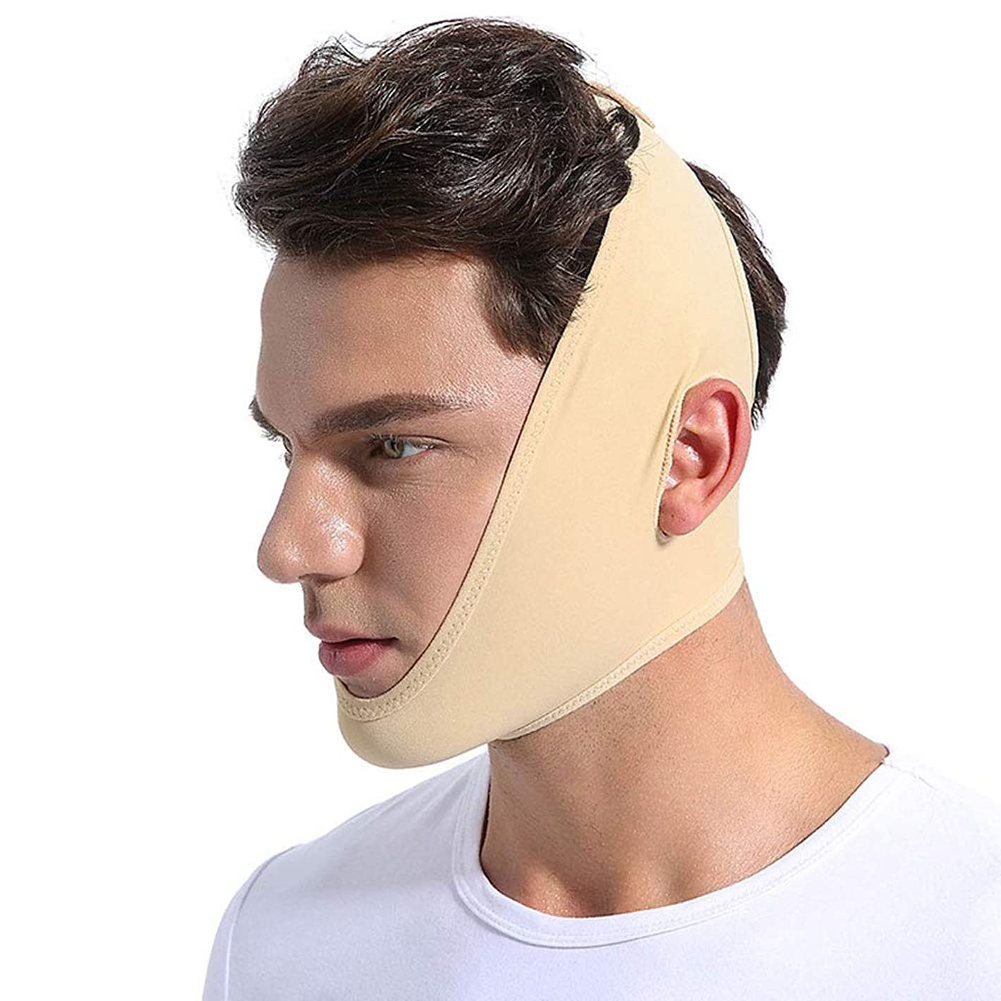 見捨てるコロニアル心配する男性と女性の薄い顔の包帯、顔面マスク付きV顔/赤面のV顔ラインスリムなしわ防止マスク痩身包帯通気性