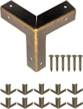 FUXXER® - 10x antieke meubelhoeken, metalen beschermhoeken, randbescherming beslagen voor kisten boxen meubels plank tafe...