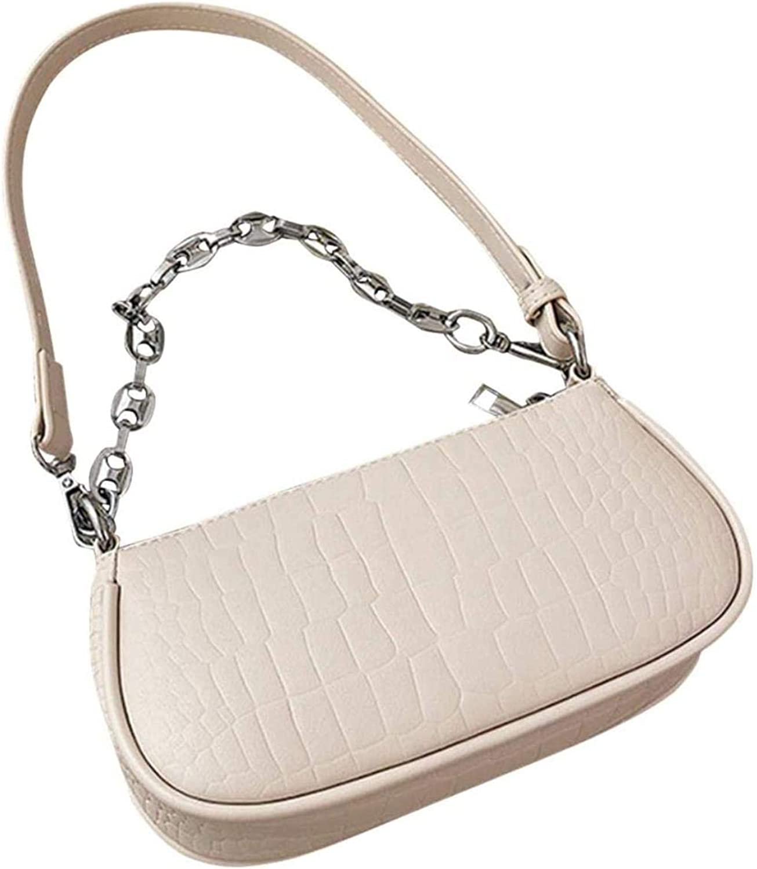 Shoulder Bag, Small Retro PU Leather HandBags Purses W/Zipper Closure for Women
