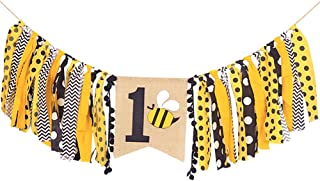 High Chair Banner For 1st Birthday - First Birthday Decorations For Photo Booth Props, Birthday Souvenir and Gifts For Kids, Best Party Supplies (BEE)