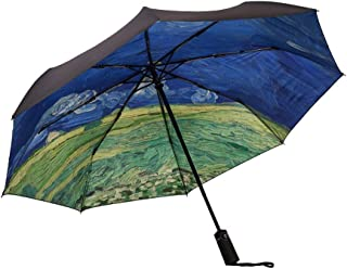 JLHBM Windproof Travel Umbrella Folding Umbrella Anti Ultraviolet Waterproof Windproof Umbrella Sunscreen Ignoring Umbrell...