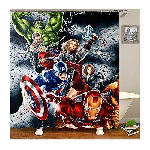 cortinas baño superheroes