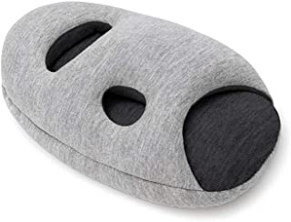 OSTRICH PILLOW Mini Travel Pillow for Airplane Head Support - Travel Accessories for Hand and Arm Rest, Power Nap on Flight and Desk - Midnight Gray