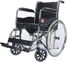 Zhi BEI Wheelchair, Steel Tube Elderly Disabled Small Travel Light Folding Portable Travel Manual Wheelchair  