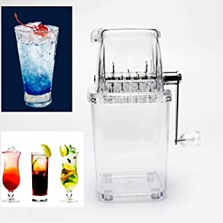 ZSQHD Multifunction Manual Mini Home Transparent Ice Crusher Shaver Kitchen Tool Ice Crushers & Shavers (Color : Clear)