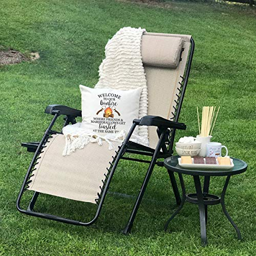 Timber Ridge Zero Gravity Locking Lounge Chair Oversize XL Adjustable Recliner with Headrest for Outdoor Beach Patio Pool Support 350lbs, Beige