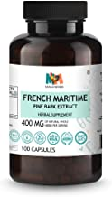 French Maritime Pine Bark Extract (95% Proanthocyanidin) Complex for Circulation, Blood Flow 100 Vegan Capsules