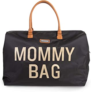 CHILDHOME Mommy Bag - Functional Large Baby Diaper Travel Bag for Baby Care. (Black Color)