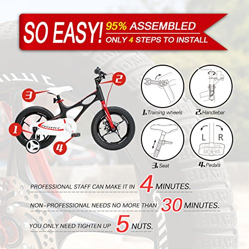 RoyalBaby Kids Bike Boys Girls Freestyle BMX Bicycle With Kickstand Gifts for Children Bikes 20 Inch Red