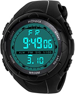 Concise Wrist LED Digital Display Outdoor Silicone Bracelet XBKPLO Unisex Digital Sports Watches
