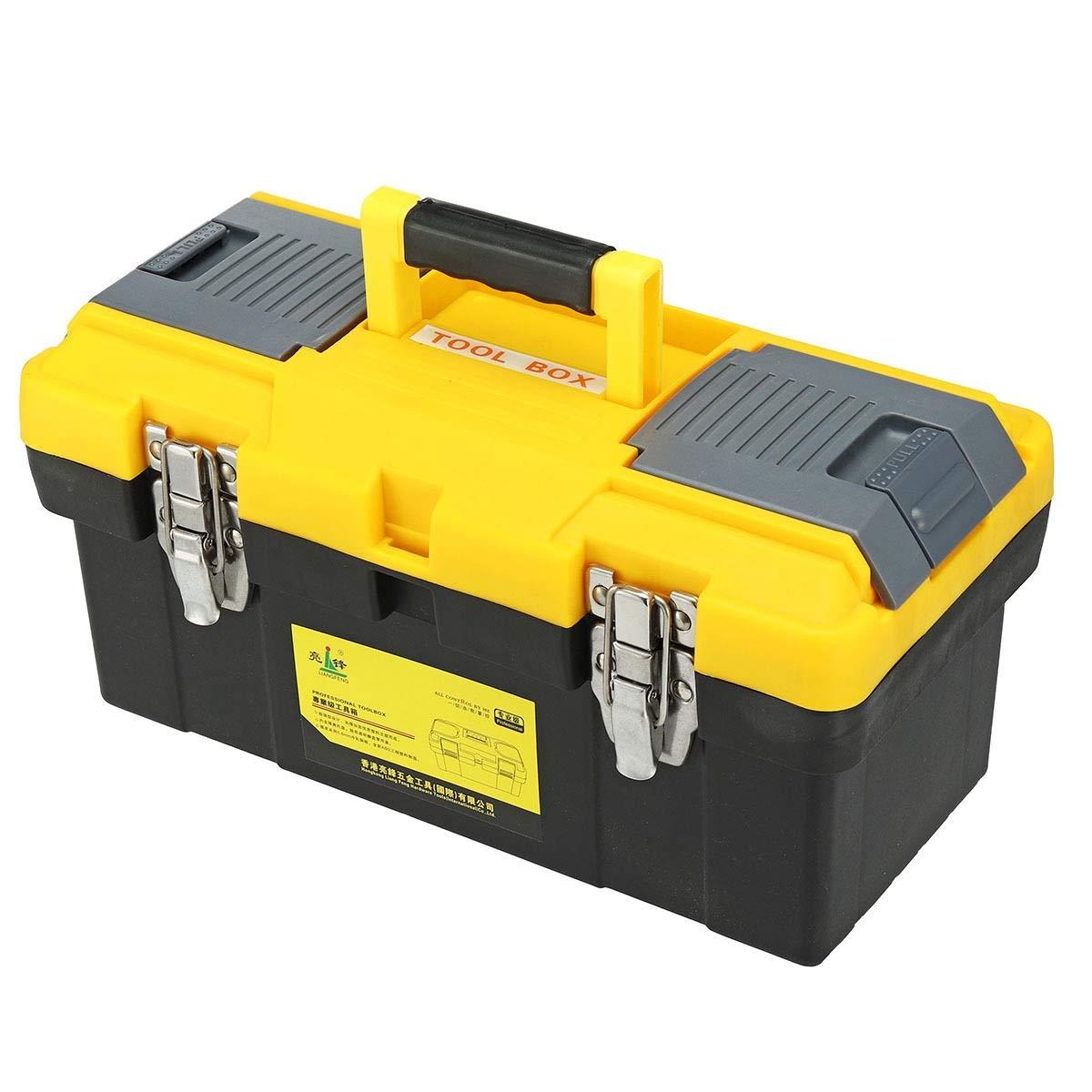 Caja de herramientas Caja de herramientas de plástico portátil Organizador de almacenamiento de cofre Manija Bandeja Compartimento Kits Caja de herramientas Caja de herramientas Contenedor de contened: Amazon.es: Hogar
