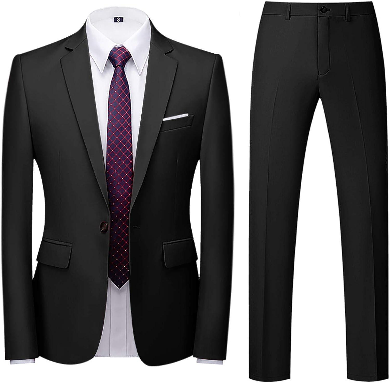 Traje Hombre Suit de 2 Piezas con Chaqueta Chaqueta Chaleco pantalón Hombres Traje de Fiesta de Boda de Negocios Style Traje Ceñido para Hombre