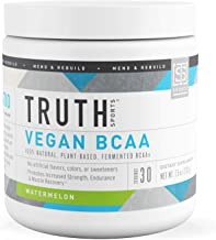 Truth Nutrition Fermented Vegan BCAA Powder - 2:1:1 Pure, Powerful All Natural Branched Chain Amino Acids (Watermelon, 30 Servings)
