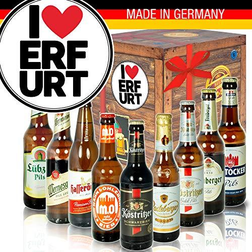 I love Erfurt/DDR Bier Set/Geschenkidee Erfurt