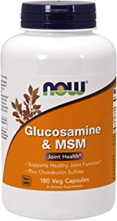 NOW Supplements, Glucosamine & MSM plus Chondroitin Sulfate, 180 Count Veg Capsules