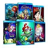 Pack Princesas Disney (La Sirenita + Enredados + Mulán + Tiana Y El Sapo + La Cenicienta + Brave) [Blu-ray]