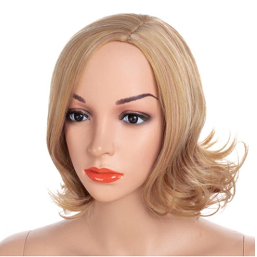 同じロール神学校YOUQIU 顔ウィッグで変更することができ黄金の髪の色とAウィッグ髪型の40センチメートル女性のかつら髪型メッシー伐採 (色 : ゴールド)