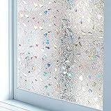 LJIEI3D anti-UV película de vidrio estático sin pegamento adhesivo para ventana esmerilado / piedra de cristal