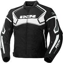 IXS Men's Motorcycle Textile Jacket (Black/White, Medium)