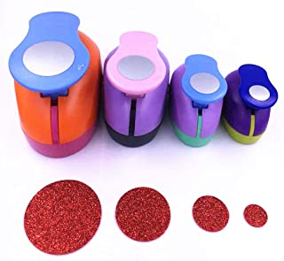"""TECH-P Set of 4PCS (2""""+1.5""""+1"""" +5/8"""") Circle Dots Craft Punch Paper Punch Tool Eva Punches for Making Arts Crafts Cards Sc..."""