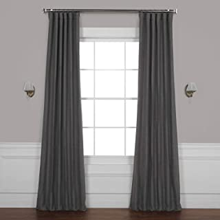 HPD Half Price Drapes BOCH-PL1804-84 Bellino Blackout Room Darkening Curtain (1 Panel), 50 X 84, Armour Grey