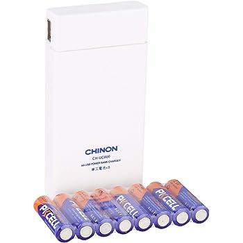 CH-UC800 単三形電池8本対応 iPhone・スマートフォン各種対応乾電池式充電器/ 単三形アルカリ電池8本が付属