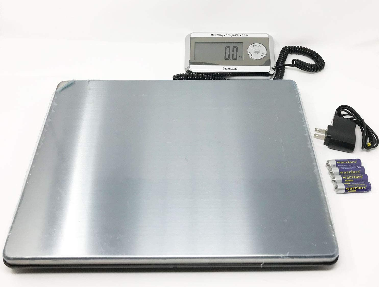 Weighology Heavy Duty Digital Postal Parcel Scale UPS Post Office Scale (440 Lb Large Platform Stainless Steel) : Office Products