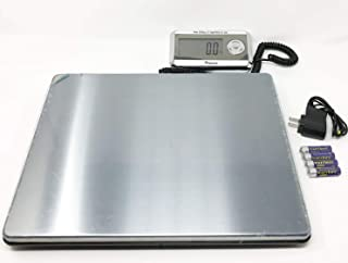 Weighology Heavy Duty Digital Postal Parcel Scale UPS Post Office Scale (440 Lb Large Platform Stainless Steel)