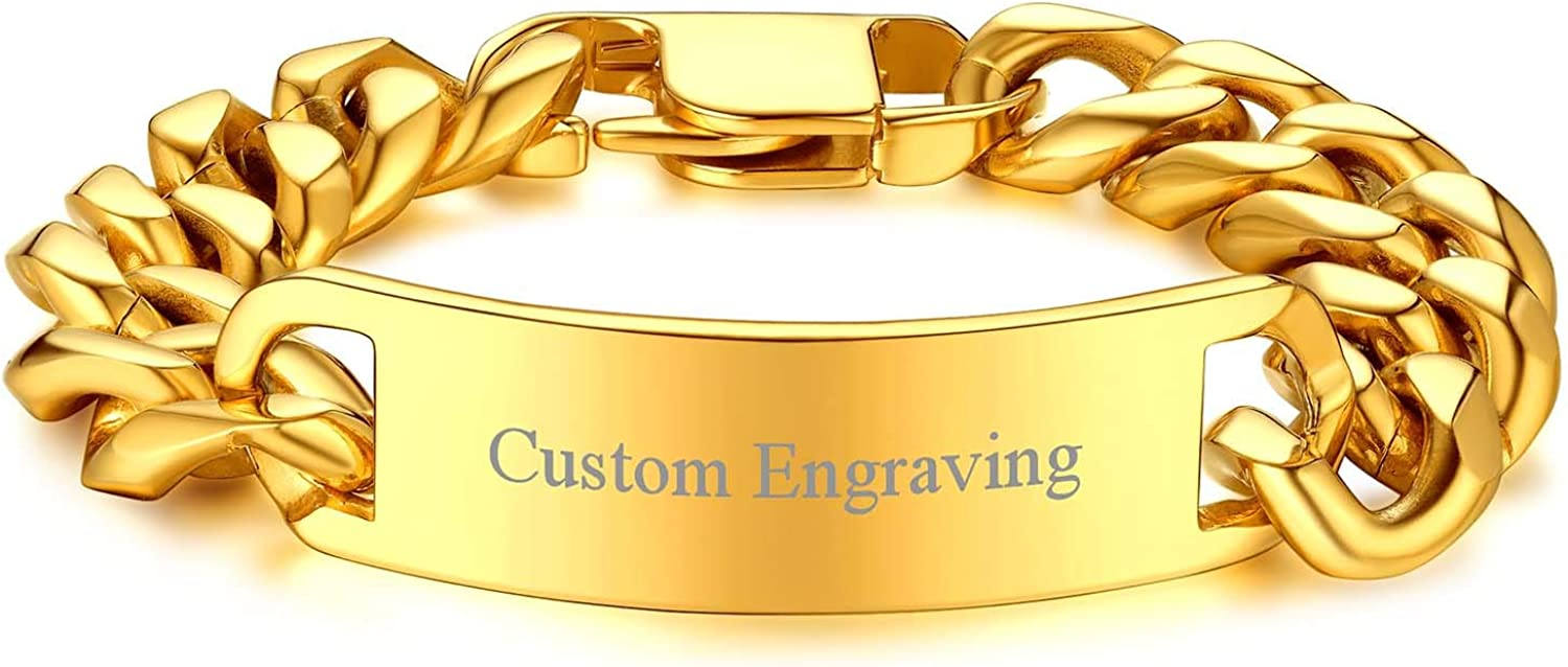 Safety and trust FOCALOOK Personalized Engravable Stainless Steel fo Bracelets ID High quality new