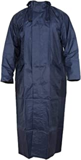Magic Women's Nylon Hooded Waterproof Long Lightweight Waterproof Raincoat|Overcoat Full Length (Blue)