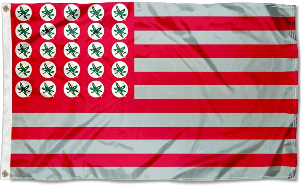 College Flags Banners Co. Ohio Buckeyes Leaf State Inventory cleanup selling sale Buckeye and Jacksonville Mall