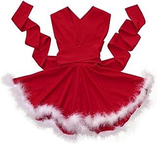 5507afb2036ba Koly Robe Tutu Princesse Costume Deguisement de Noël pour Enfant Bebe Fille  et Mère