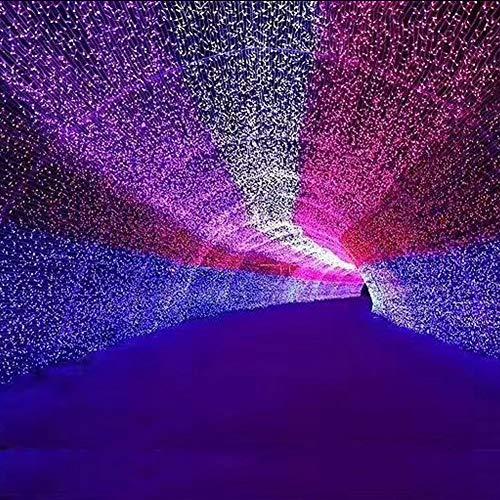 Decorazioni di Natale Luci natalizia 50m, Plug In 400 LED impermeabili Copper Wire luci della stringa for esterno   interno   Camera And More Terrazzo Giardino Regalo di Natale ( Colore : Red )