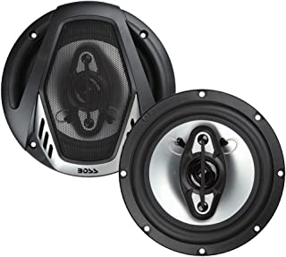 BOSS Audio Systems NX654 Car Speakers - 400 Watts Of Power Per Pair, 200 Watts Each, 6.5 Inch , Full Range, 4 Way, Sold in Pairs, Easy Mounting