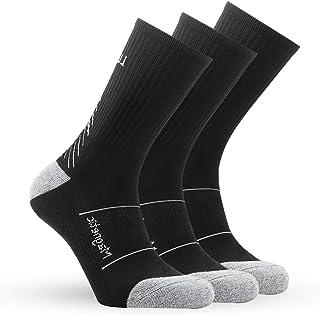IMITOR Calcetines de Senderismo para Hombre y Mujere Algodón Transpirable Calcetines de Trekking Calcetines Térmicos para Actividades al Aire Libre Ciclismo Correr Escalar 3 Pares Multicolour