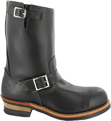 rot Wing Engineer 02268-3D Leather Mens Stiefel - schwarz - 42
