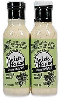 Creamy Garlic Herb - Paleo / Keto Salad Dressing & Marinade made with Organic Stevia Leaves & NON-GMO Grapeseed Oil by Bri...
