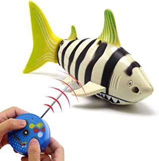 Tipmant Mini RC Fish Radio Remote Control Shark Electric Boat Submarine Electronic Toys for Swimming Pool Water Tube Kids ...